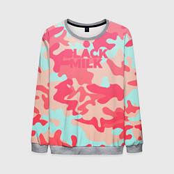 Свитшот мужской Black Milk: pink цвета 3D-меланж — фото 1