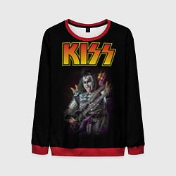 Свитшот мужской KISS: Gene Simmons цвета 3D-красный — фото 1
