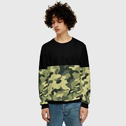 Свитшот мужской Камуфляж: черный/хаки цвета 3D-черный — фото 2