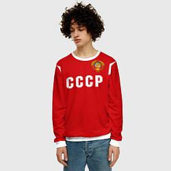 Свитшот мужской Сборная СССР 1988 цвета 3D-белый — фото 2