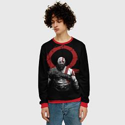 Свитшот мужской God of War IV цвета 3D-красный — фото 2