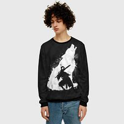 Свитшот мужской Dark Souls: Howling Wolf цвета 3D-черный — фото 2