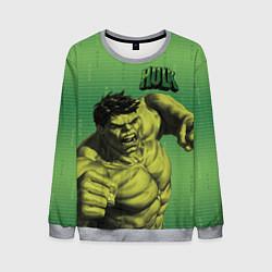 Свитшот мужской Hulk цвета 3D-меланж — фото 1
