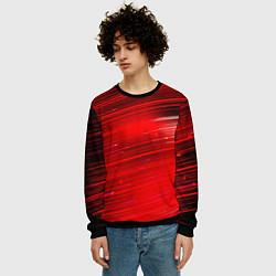 Свитшот мужской Красный свет цвета 3D-черный — фото 2