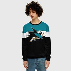 Свитшот мужской San Jose Sharks цвета 3D-черный — фото 2