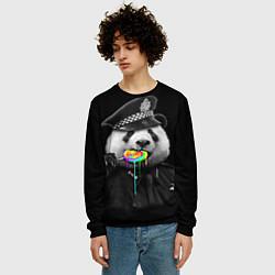 Свитшот мужской Панда с карамелью цвета 3D-черный — фото 2