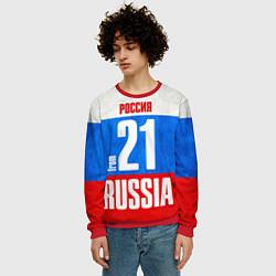 Свитшот мужской Russia: from 21 цвета 3D-красный — фото 2