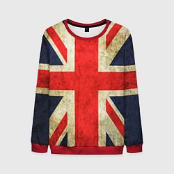 Свитшот мужской Великобритания цвета 3D-красный — фото 1