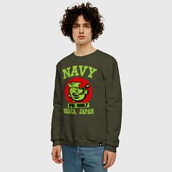 Свитшот хлопковый мужской Navy: Po-1967 цвета хаки — фото 2