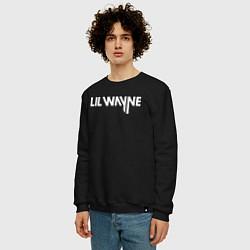 Свитшот хлопковый мужской Lil Wayne цвета черный — фото 2