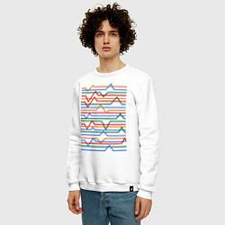 Свитшот хлопковый мужской Эквалайзер цвета белый — фото 2