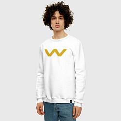 Свитшот хлопковый мужской Weyland-Yutani цвета белый — фото 2