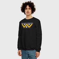 Свитшот хлопковый мужской Weyland-Yutani цвета черный — фото 2