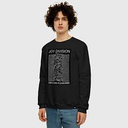 Свитшот хлопковый мужской Joy Division: Unknown Pleasures цвета черный — фото 2