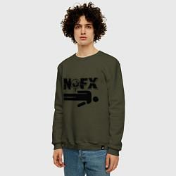 Свитшот хлопковый мужской NOFX crushman цвета хаки — фото 2