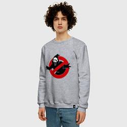 Свитшот хлопковый мужской Крик: запрещено цвета меланж — фото 2