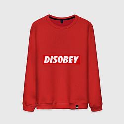 Свитшот хлопковый мужской Disobey цвета красный — фото 1
