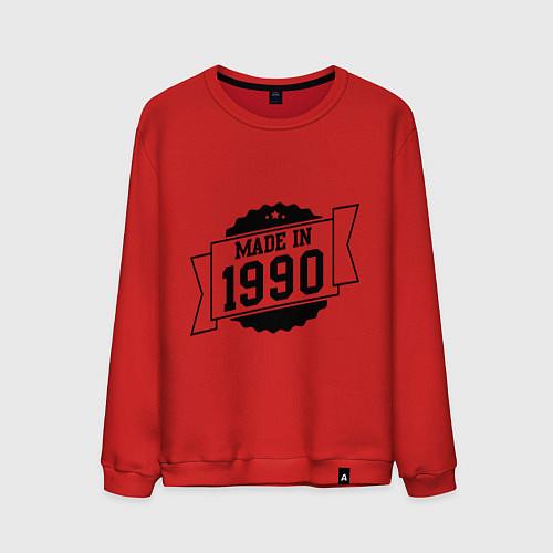 Мужской свитшот Made in 1990 / Красный – фото 1