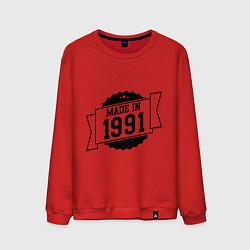 Свитшот хлопковый мужской Made in 1991 цвета красный — фото 1