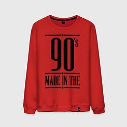 Свитшот хлопковый мужской Made in the 90s цвета красный — фото 1