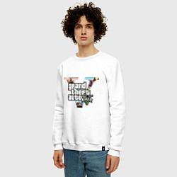 Свитшот хлопковый мужской GTA 5: City цвета белый — фото 2