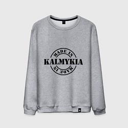 Свитшот хлопковый мужской Made in Kalmykia цвета меланж — фото 1
