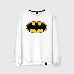 Свитшот хлопковый мужской Batman цвета белый — фото 1
