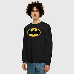 Свитшот хлопковый мужской Batman цвета черный — фото 2