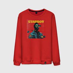 Свитшот хлопковый мужской STARBOY цвета красный — фото 1