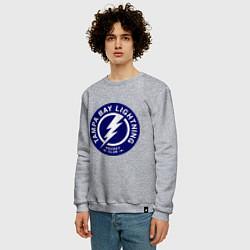 Свитшот хлопковый мужской HC Tampa Bay Lightning цвета меланж — фото 2