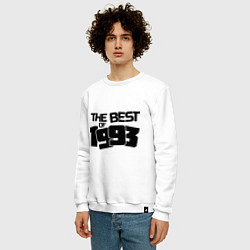 Свитшот хлопковый мужской The best of 1993 цвета белый — фото 2