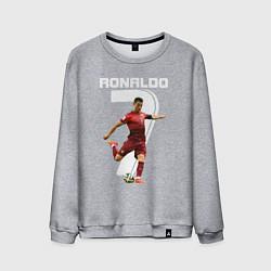 Свитшот хлопковый мужской Ronaldo 07 цвета меланж — фото 1
