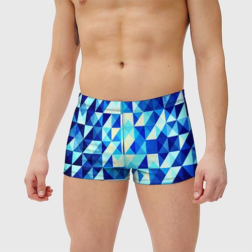 Мужские плавки Синяя геометрия / 3D – фото 3