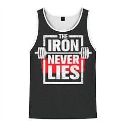 Майка-безрукавка мужская The iron never lies цвета 3D-белый — фото 1