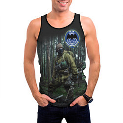 Майка-безрукавка мужская Военная разведка цвета 3D-черный — фото 2