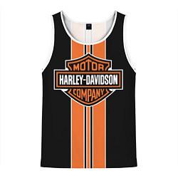 Майка-безрукавка мужская Harley-Davidson цвета 3D-белый — фото 1