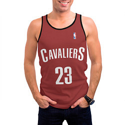 Мужская 3D-майка без рукавов с принтом Cavaliers Cleveland 23: Red, цвет: 3D-черный, артикул: 10128283104123 — фото 2