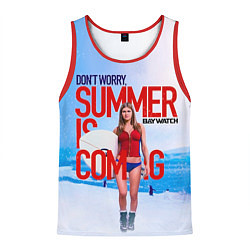 Майка-безрукавка мужская Summer is coming цвета 3D-красный — фото 1
