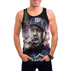 Майка-безрукавка мужская Ice Cube: Big boss цвета 3D-черный — фото 2