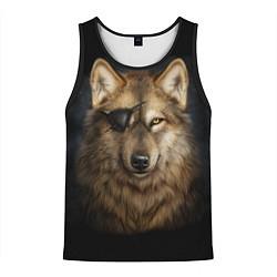Мужская 3D-майка без рукавов с принтом Морской волк, цвет: 3D-черный, артикул: 10135210704123 — фото 1