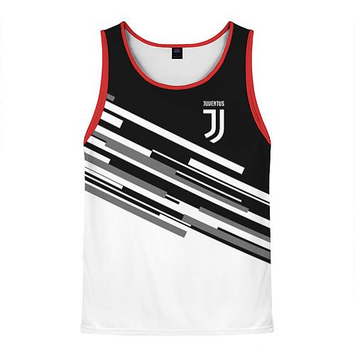 Мужская майка без рукавов FC Juventus: B&W Line / 3D-Красный – фото 1