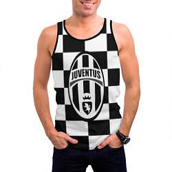 Майка-безрукавка мужская FC Juventus: W&B Grid цвета 3D-черный — фото 2