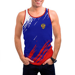Майка-безрукавка мужская RUSSIA SPORT цвета 3D-красный — фото 2