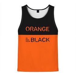 Майка-безрукавка мужская Orange Is the New Black цвета 3D-черный — фото 1