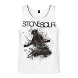Майка-безрукавка мужская Stone Sour: Rage цвета 3D-белый — фото 1