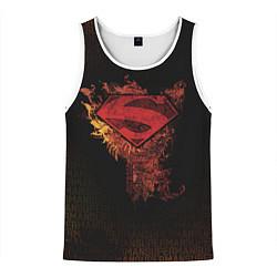 Майка-безрукавка мужская Superman цвета 3D-белый — фото 1