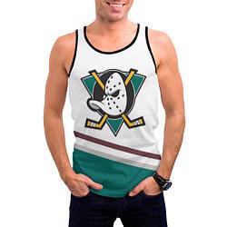 Майка-безрукавка мужская Anaheim Ducks Selanne цвета 3D-черный — фото 2