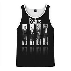 Майка-безрукавка мужская The Beatles: Man's цвета 3D-белый — фото 1