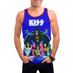 Майка-безрукавка мужская Kiss Show цвета 3D-красный — фото 2