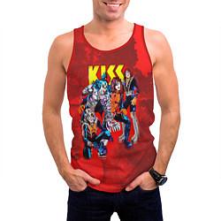 Майка-безрукавка мужская KISS: Hot Blood цвета 3D-красный — фото 2